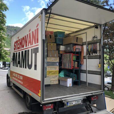 Stěhování bytu 2+1 z Ústí nad Labem do Jihlavy
